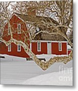 Roger Williams Cottage In Winter Metal Print