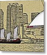 Roger's Centre And Tall Ship Metal Print
