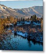 Rogue River Winter Metal Print