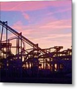 Roller Coaster At The  Nj Shore Metal Print