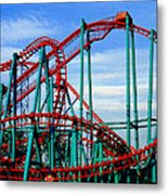Roller Coaster Painting Metal Print