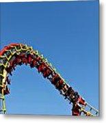 Roller Coaster Ride Metal Print