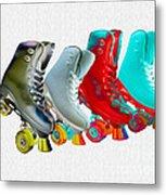 Roller Skates Metal Print