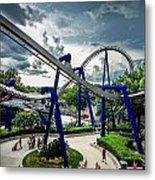 Rollercoaster Amusement Park Ride Metal Print