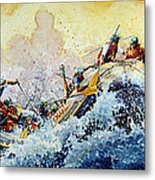 Rollin' Down The River Metal Print