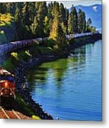 Rollin' Round The Bend Metal Print