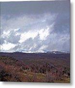 Rolling Clouds- Rolling Hills Metal Print