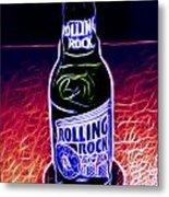 Rolling Rock Dark Metal Print