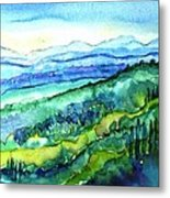 Rolling Tuscan Landscape Metal Print by Trudi Doyle