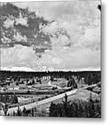 Rollinsville Colorado Small Town 181 In Black And White Metal Print