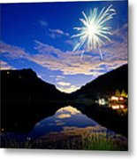 Rollinsville Yacht Club Fireworks Private Show 52 Metal Print