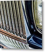 Rolls Royce Headlight And Grille Metal Print