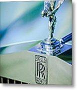 Rolls-royce Hood Ornament -782c Metal Print
