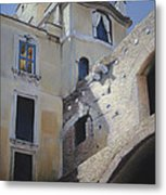 Roman Apartments - Pastel Metal Print