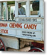 Roman Chewing Candy Wagon In New Orleans Metal Print