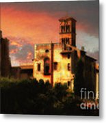 Roman Forum At Sunset Metal Print