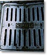 Roman Manhole Cover Metal Print