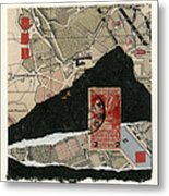 Roman Map Collage Metal Print