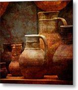 Roman Pots Metal Print
