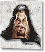 Roman Reigns Caricature By Gbs Metal Print