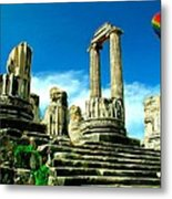 Roman Ruins From Above Metal Print