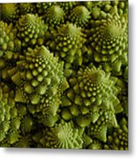 Romanesco Broccoli Close Up Metal Print