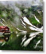 Romanian Glacier Lake Metal Print