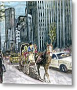 New York 5th Avenue Ride - Fine Art Metal Print