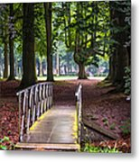 Romantic Bridge To Shadow Place. De Haar Castle Metal Print by Jenny Rainbow