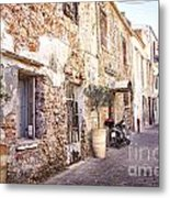 Romantic Chania Street Metal Print