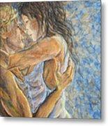 Romantic Cover Painting Metal Print