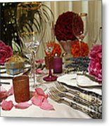 Romantic Dinner Setting Metal Print