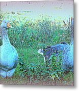 I Try To Be As Romantic As A Simple Goose But I Know Too Much  Metal Print