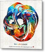 Romantic Love Art - The Love Knot - By Sharon Cummings Metal Print