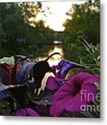 Romantic River View Metal Print