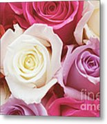 Romantic Rose Garden Metal Print