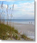 Romantic Secluded Beach Metal Print