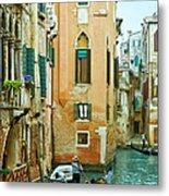 Romantic Venice Views From Gondola Metal Print