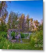 Romantic View By The Methow River Metal Print