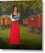 Romany Mother And Child Metal Print