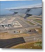 Rome Airport From An Aircraft Metal Print