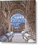 Rome Colosseum Interior 01 Metal Print