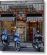 Rome Italy Pizzeria Metal Print