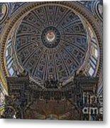 Rome Saint Peters Basilica Interior 01 Metal Print