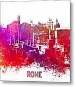 Rome Skyline Metal Print