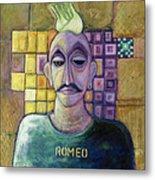Romeo, 1970 Acrylic & Metal Leaf On Canvas Metal Print
