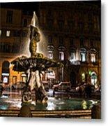 Rome's Fabulous Fountains - Fontana Del Tritone Metal Print