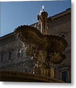 Rome's Fabulous Fountains - Piazza Farnese Fountain Metal Print