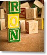 Ron - Alphabet Blocks Metal Print