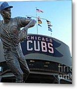 Ron Santo Chicago Cubs Statue Metal Print